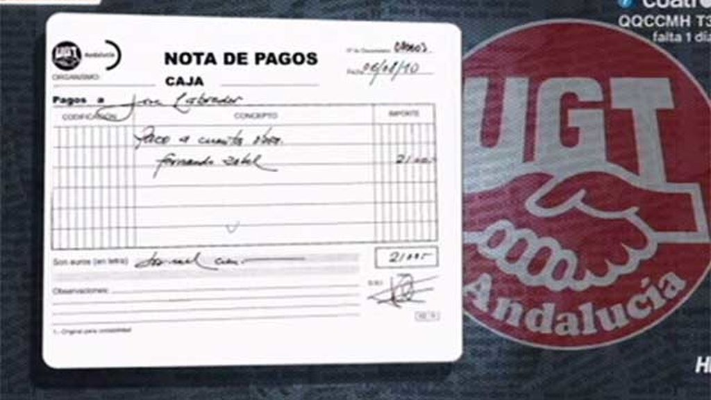 UGT-A habría pagado las chapuzas caseras de Pastrana, exsecretario general