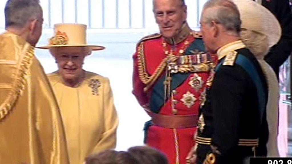 La llegada de la Reina Isabel