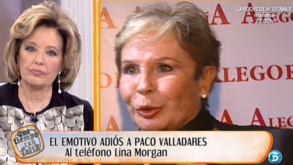 Lina Morgan comparte con María Teresa su pena por la muerte de Paco