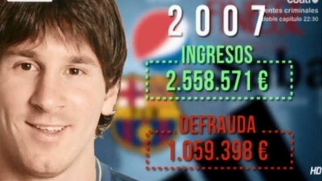 Messi, acusado de cometer un fraude fiscal de cuatro millones de euros