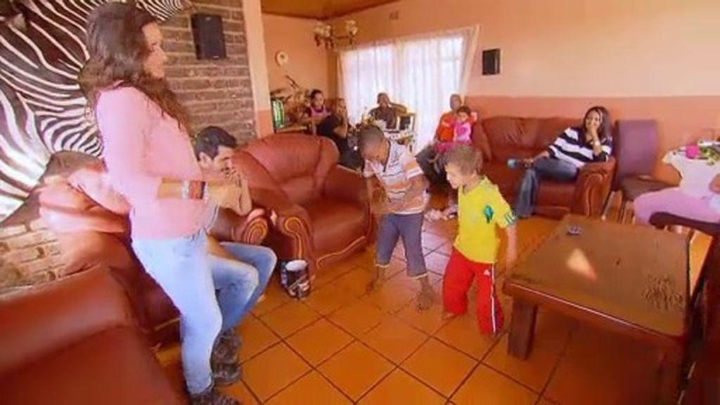 Unos bailes al estilo sudafricano