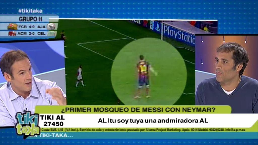 ¿Primer 'mosqueo' de Messi con Neymar?