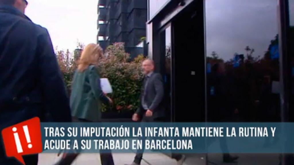 La Infanta Cristina continúa con su rutina