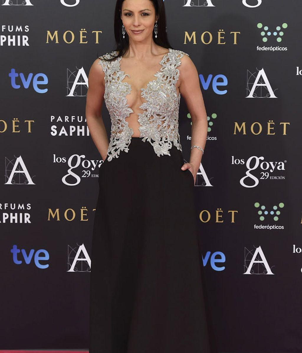 Ana Álvarez con vestido de Álex Vidal