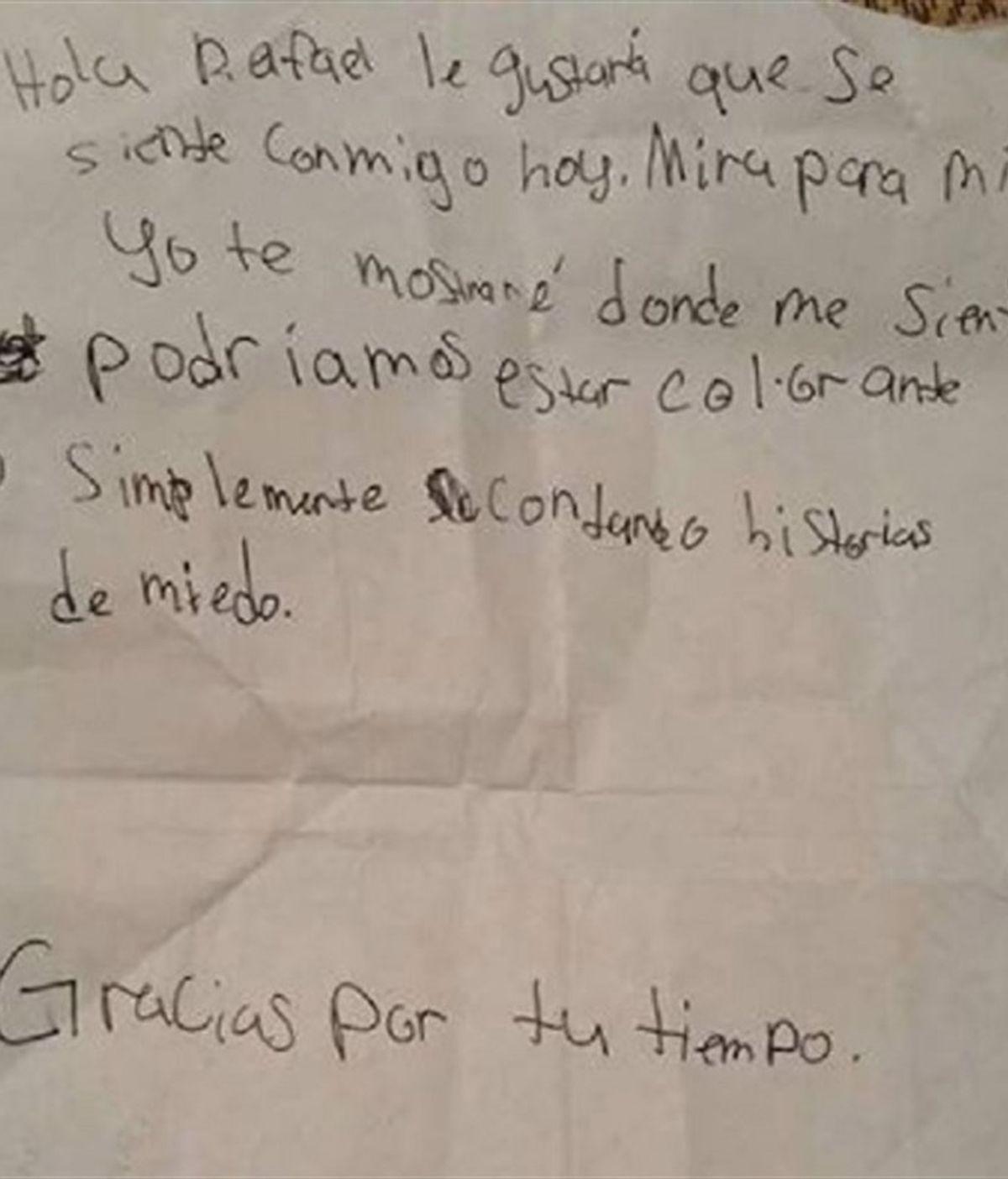 La carta de una niña estadounidense a su nuevo compañero mexicano