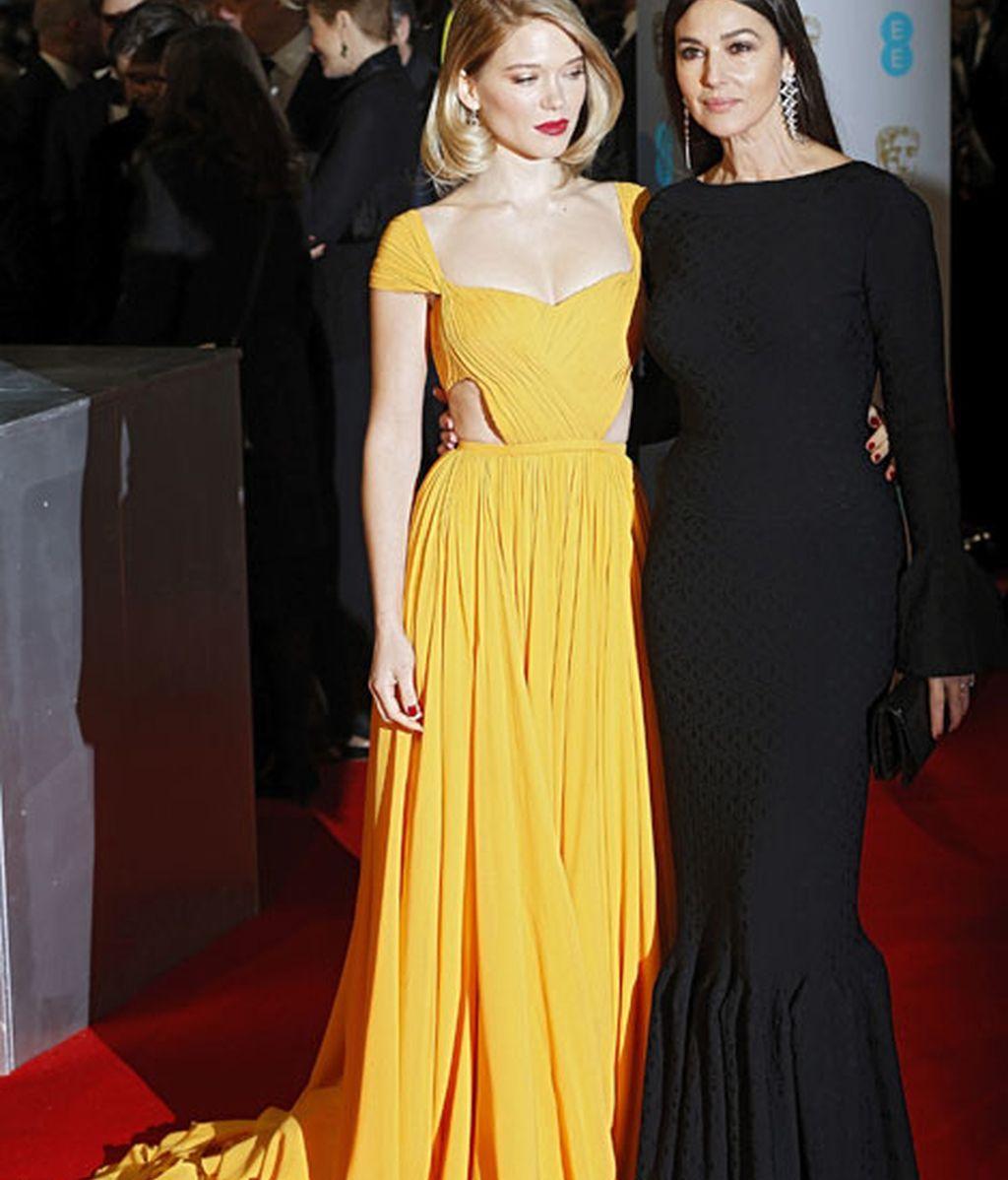 La actriz francesa Lea Seydoux y la actriz italiana Monica Bellucci