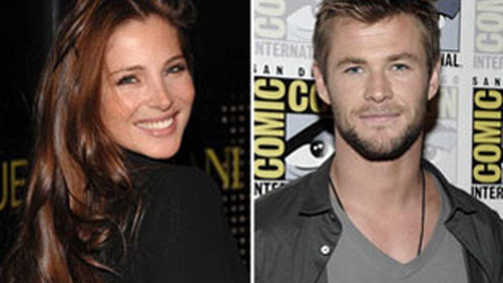 Elsa y Chris se conocieron porque tienen el mismo representante. Foto: AP