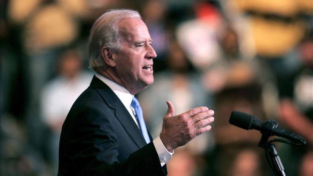 El vicepresidente de EE.UU., Joseph Biden, aterrizó en Bagdad procedente de Islamabad, donde había estado después de visitar también Kabul. EFE/Archivo