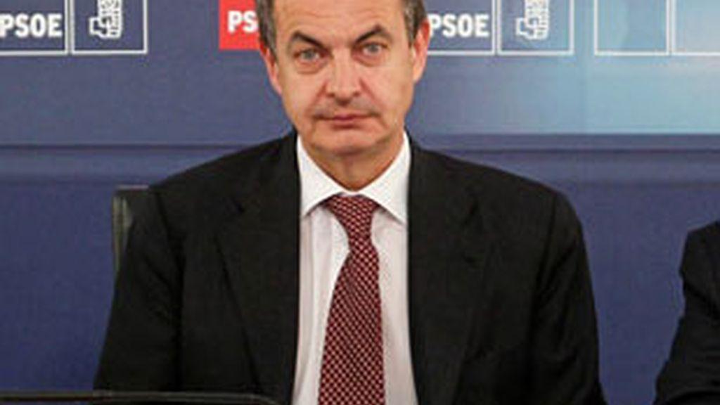 Imagen del presidente Zapatero durante la Ejecutiva del PSOE. Foto: EFE.