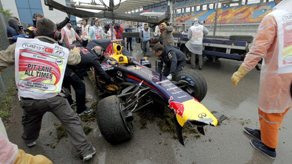 Vettel destroza el coche