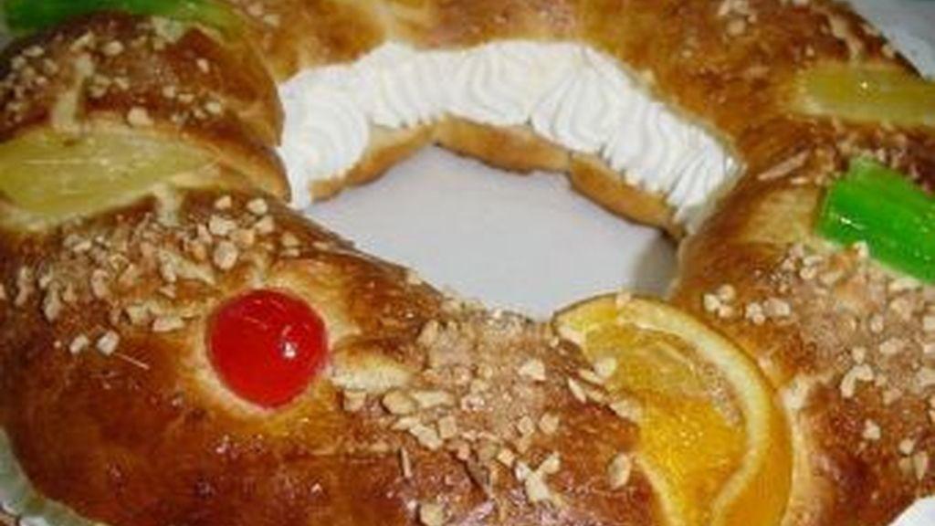 El roscón de Reyes, uno de los dulces típicos de la Navidad, que contiene muchas calorías.