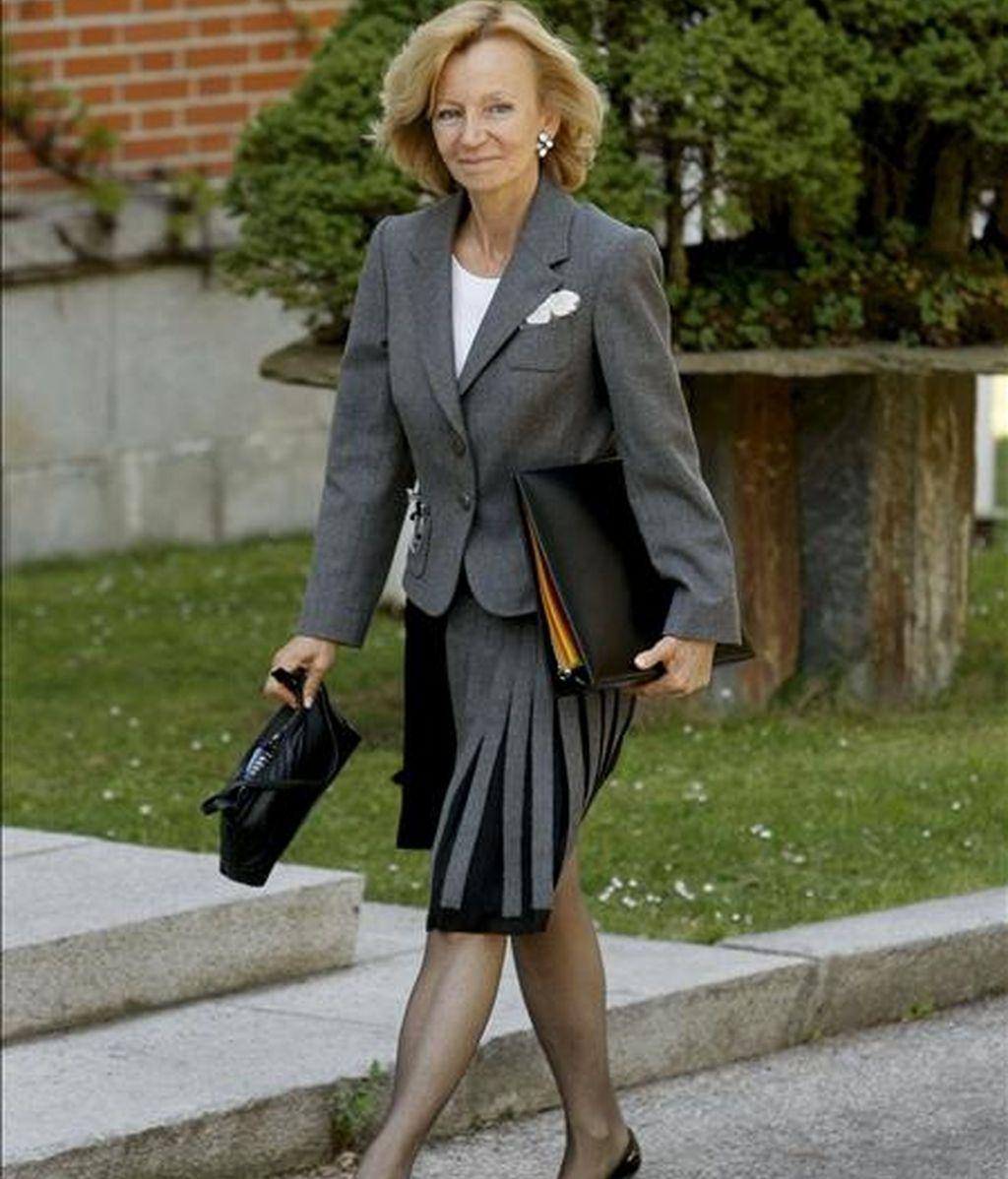 La vicepresidenta segunda del Gobierno y ministra de Economía y Hacienda, Elena Salgado. EFE/Archivo