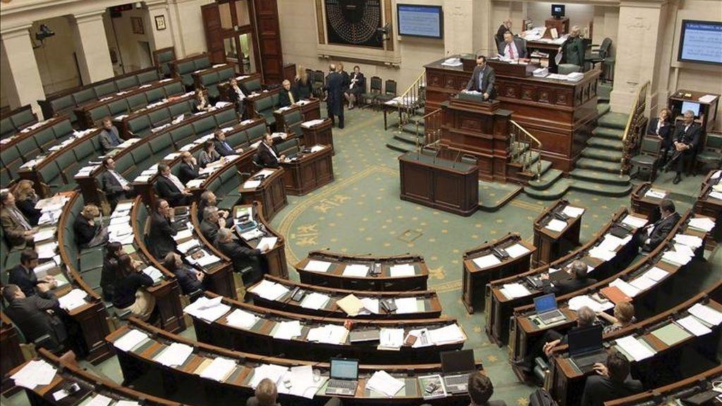 Imagen de una sesión plenaria del Parlamento belga. EFE/Archivo