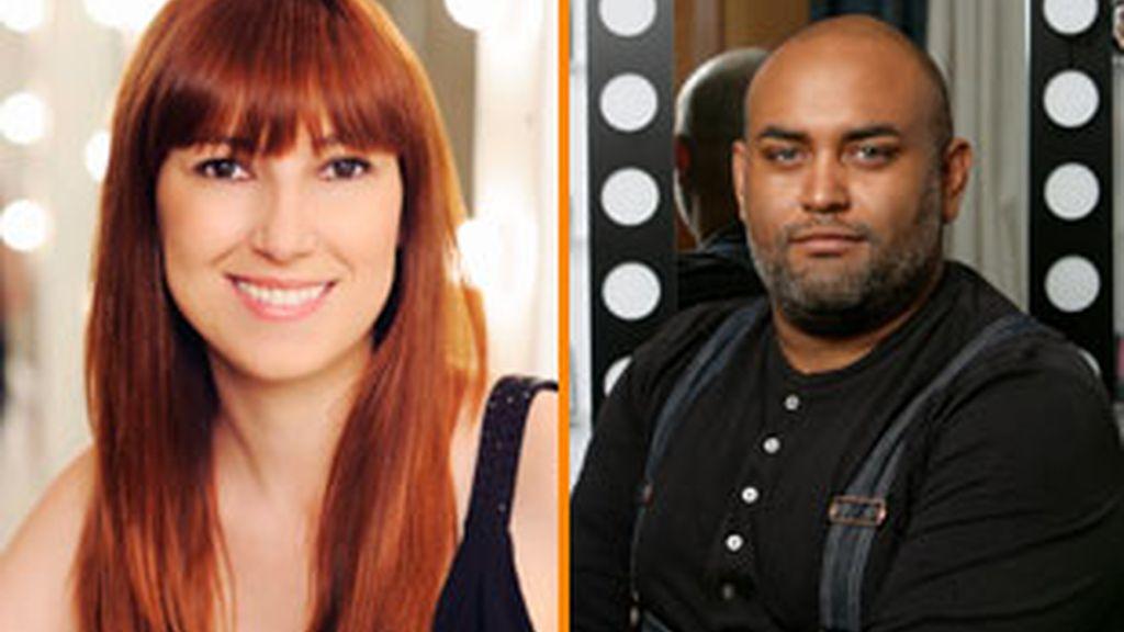 Maria Baras y Lewis Amarate, estilista de Pantene Style y maquillador oficial de Max Factor