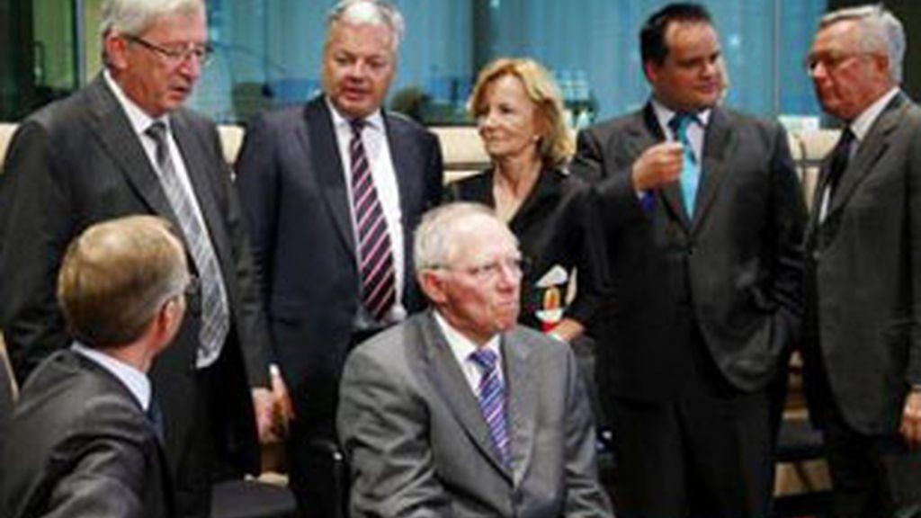 Varios miembros del Ecofin en una imagen de archivo.
