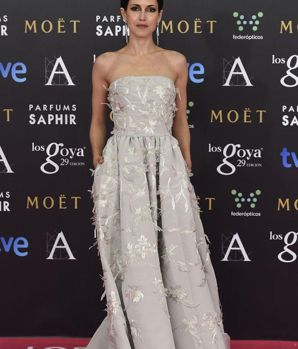 Nerea Barros con vestido de Oscar de la Renta