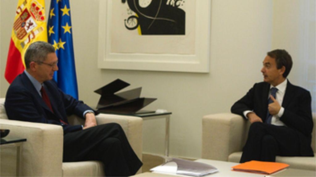 Zapatero niega a Gallardón refinanciar la deuda de Madrid