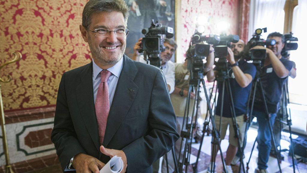 Rueda de prensa del ministro de Justicia, Rafael Catalá