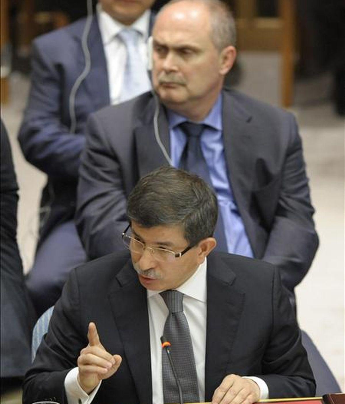 El ministro de Relaciones Exteriores de Turquía, Ahmet Davutoglu. EFE/Archivo