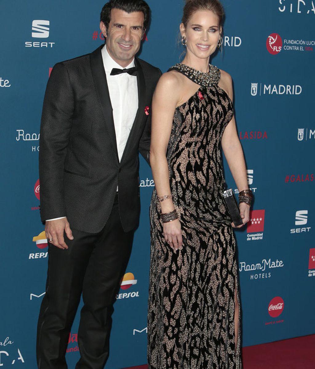 Luis Figo y su mujer Helen Swedin