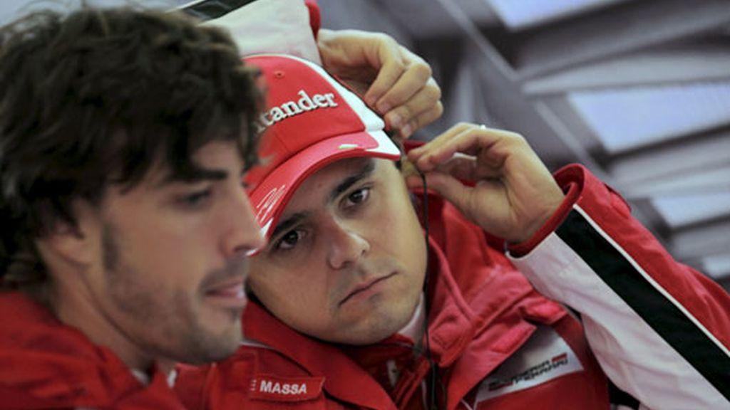 Felipe Massa con Alonso