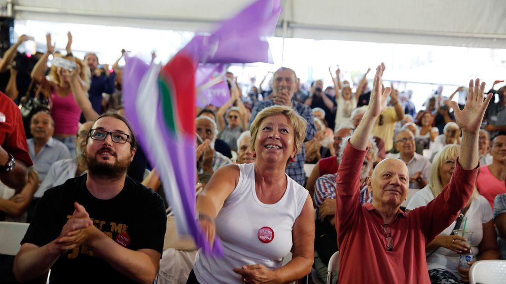 Alegría de los seguidores de Syriza