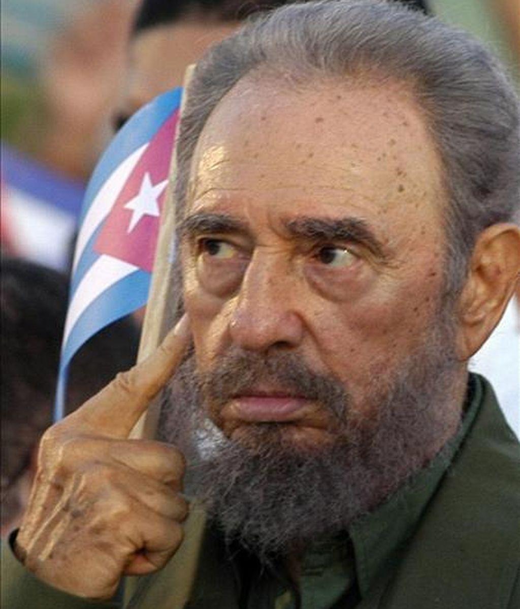 """Fidel Castro afirma que """"es divertido ver cómo se agitan las entrañas del imperio, lleno de problemas y contradicciones insuperables con los pueblos de América Latina, a los que pretende dominar eternamente"""". EFE/Archivo"""
