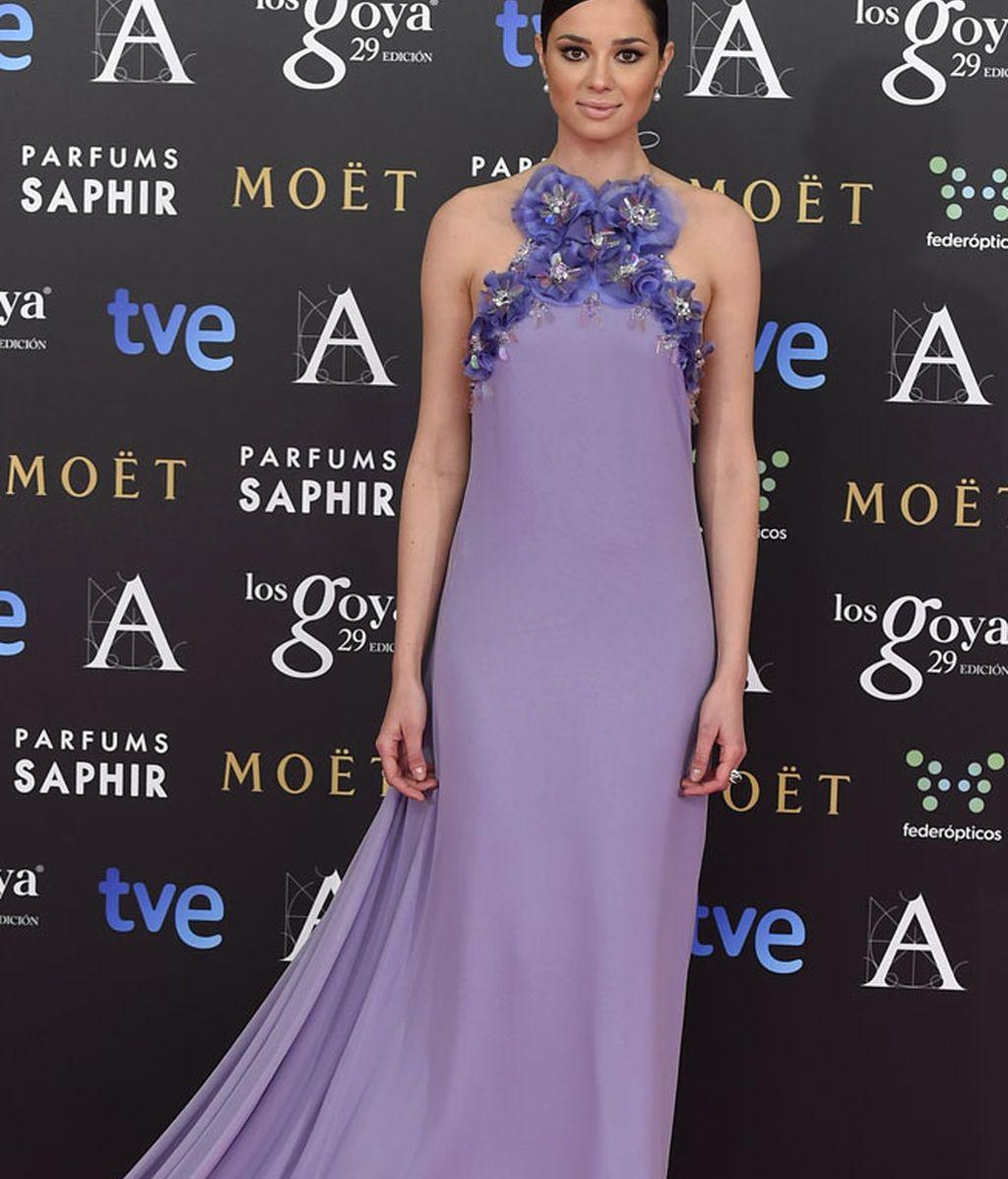 Dafne Fernández con vestido de The 2nd Skin y zapatos de Lodi