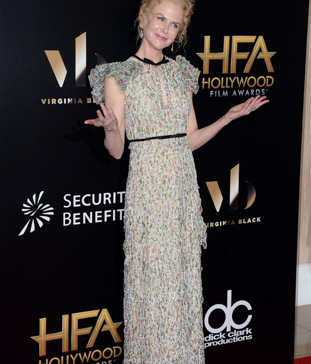 Nicole Kidman eligió las flores para su 'look' en una versión más discreta