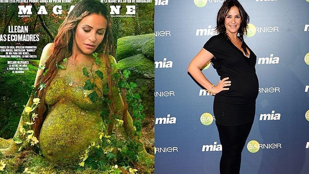 Melani Olivares aboga por un parto natural (2012)
