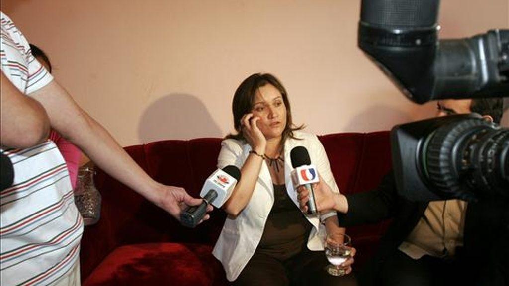 Damiana Hortencia Morán Amarilla, de 39 años afirmó ante la prensa que tuvo un hijo hace un año y medio con el presidente paraguayo, Fernando Lugo. EFE