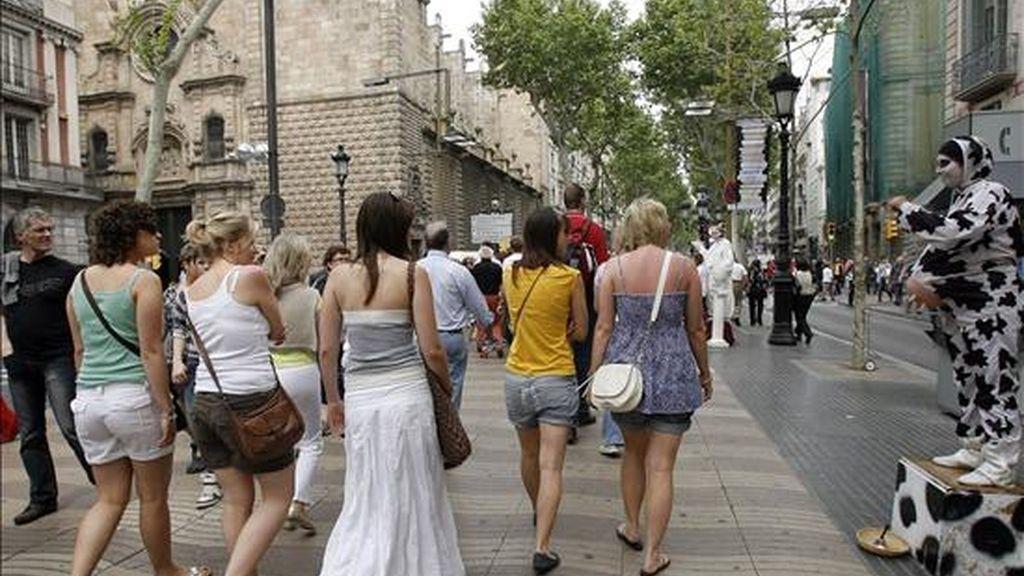 Vista de las populares Ramblas barcelonesas. EFE/Archivo