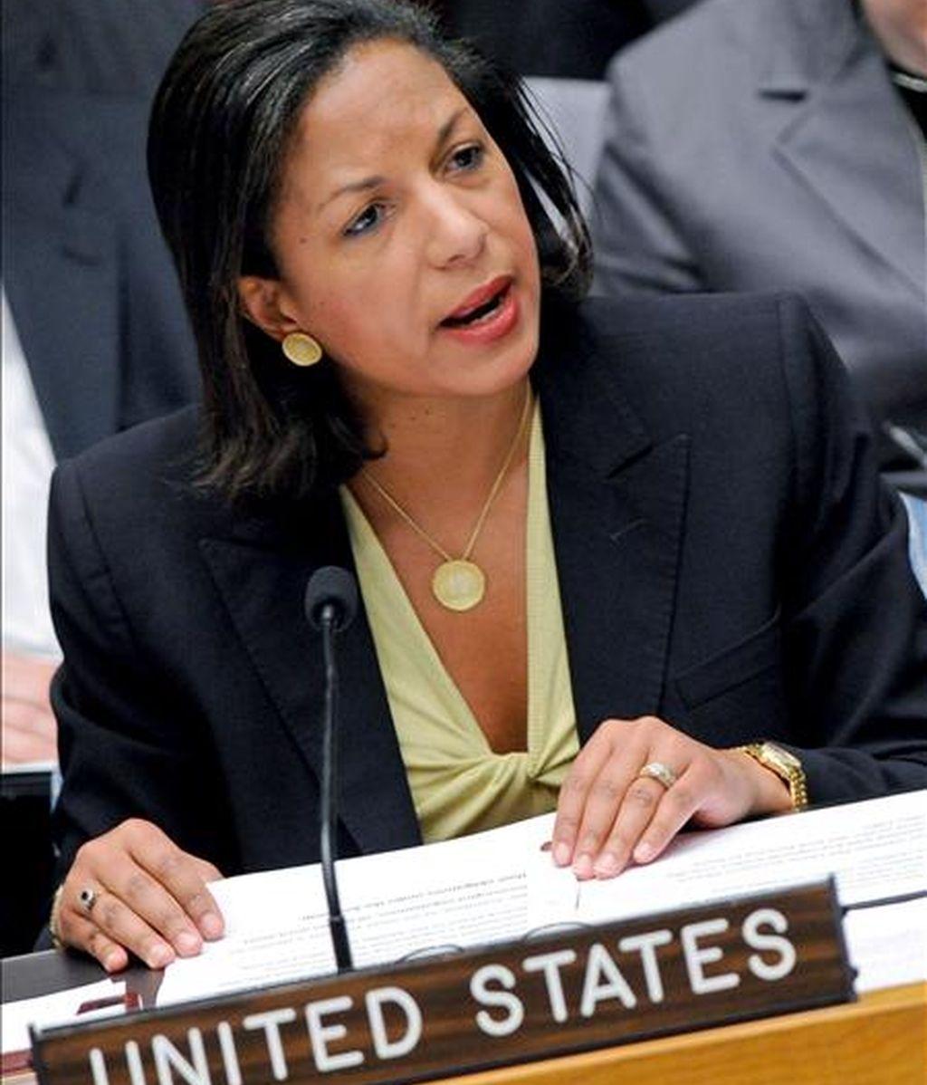 """La embajadora estadounidense ante la ONU, Susan Rice, atribuyó el retraso a la """"complejidad"""" técnica de las sanciones que se desean imponer al aparato militar y nuclear del régimen norcoreano. EFE/Archivo"""