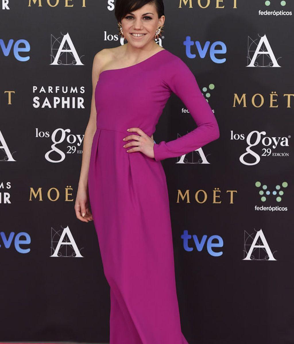 Angy Fernánde con vestido de Alicia Rueda