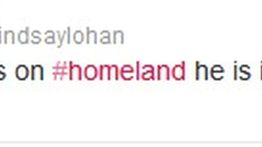 Twitter Lindsay Lohan (Homeland)