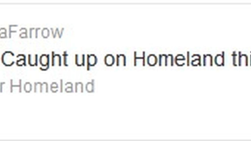 Twitter Mia Farrow (Homeland)