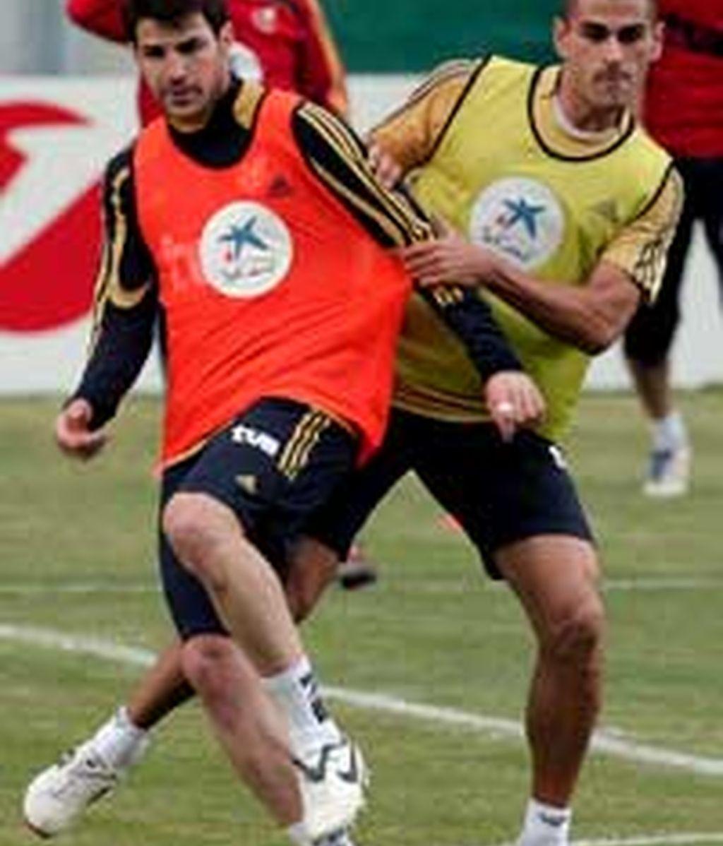 Cesc, durante un entrenamiento. Foto: EFE