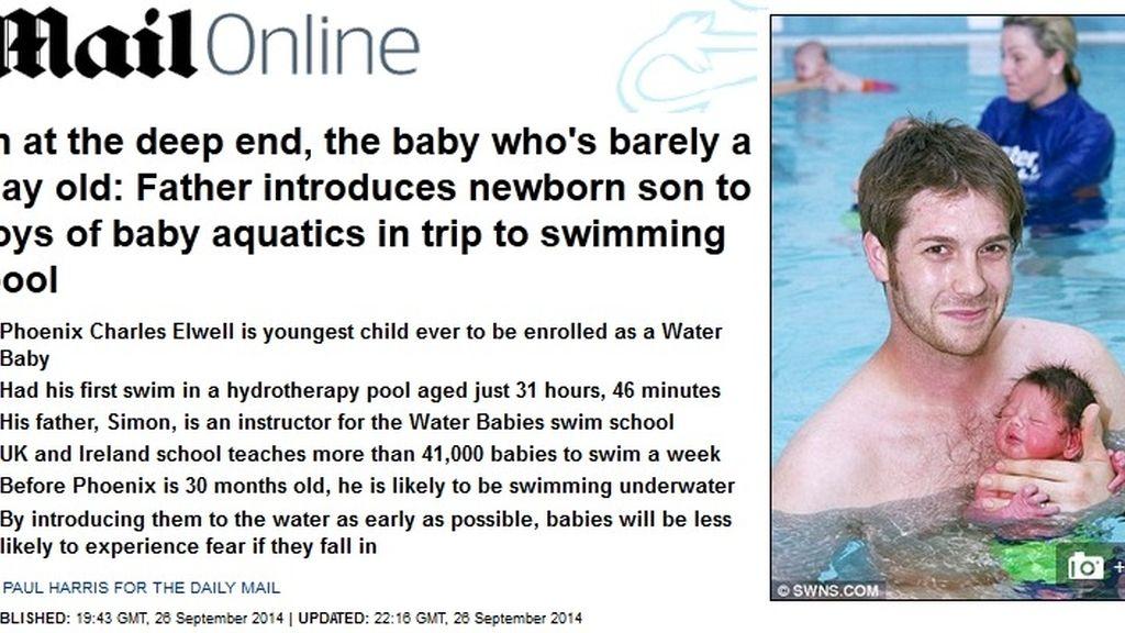 Bebé en el agua