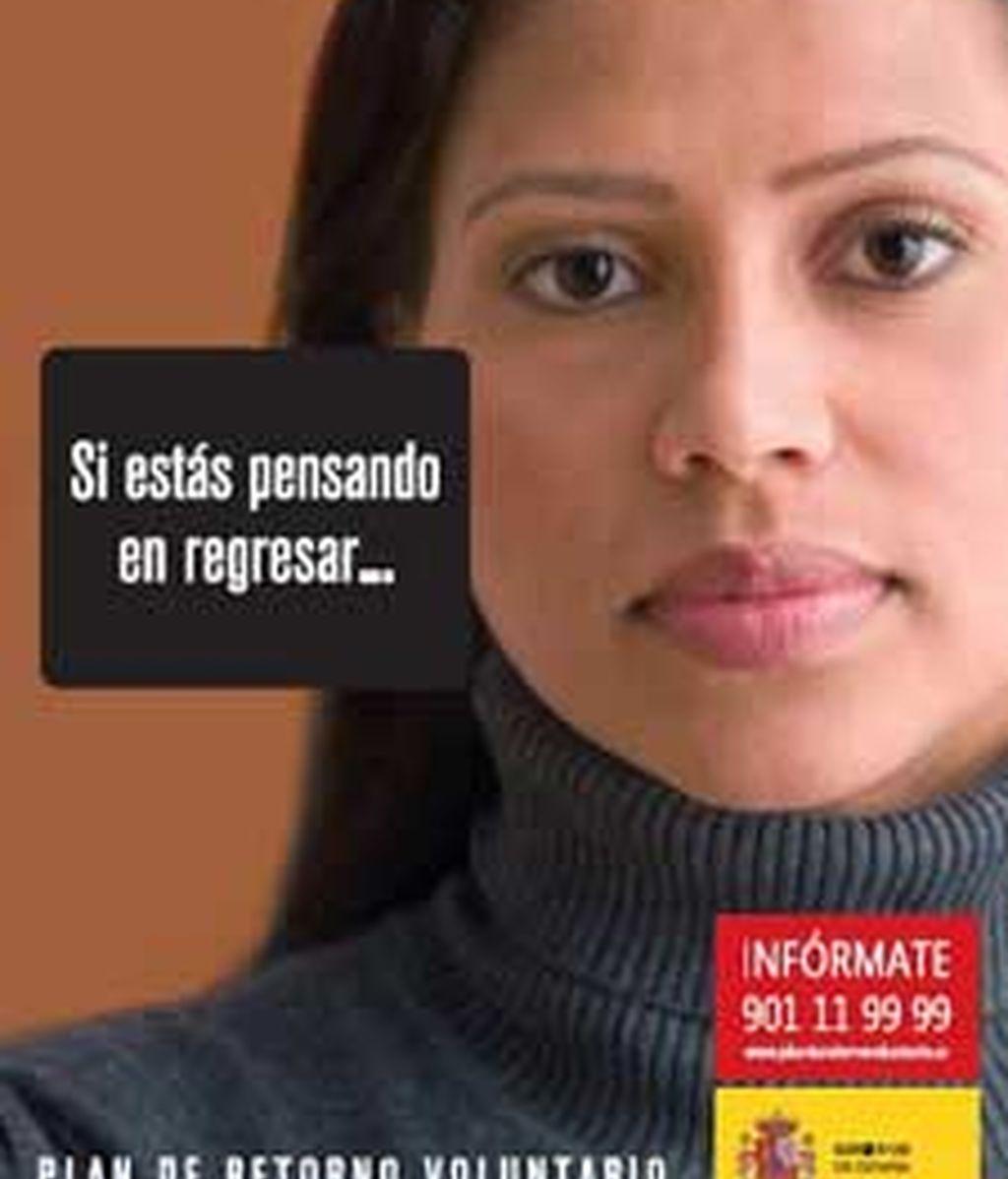 Uno de los carteles publicitarios del Plan de Retorno VOluntario del Gobierno. Foto: www.planderetornovoluntario.es