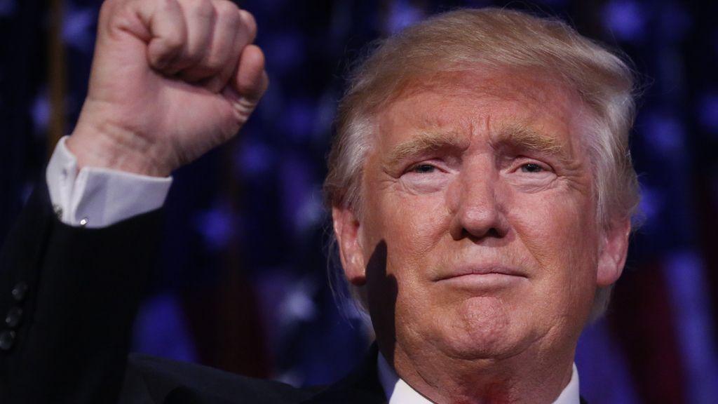 Donald Trump celebra su victoria