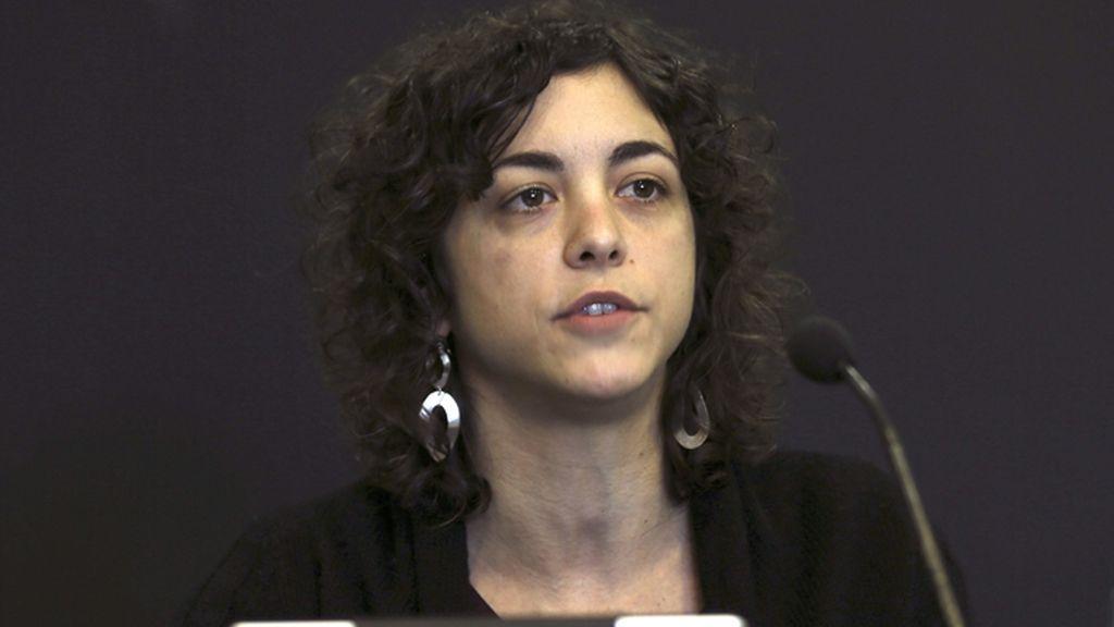 Rueda de prensa de Tania González de Podemos