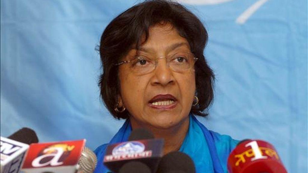La Alta Comisionada de la ONU para los Derechos Humanos (ACDH), Navanethem Pillay, en una imagen del pasado 22 de marzo. EFE/Archivo