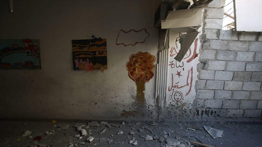 Seis niños muertos y otros muchos heridos al bombardear una escuela en Damasco