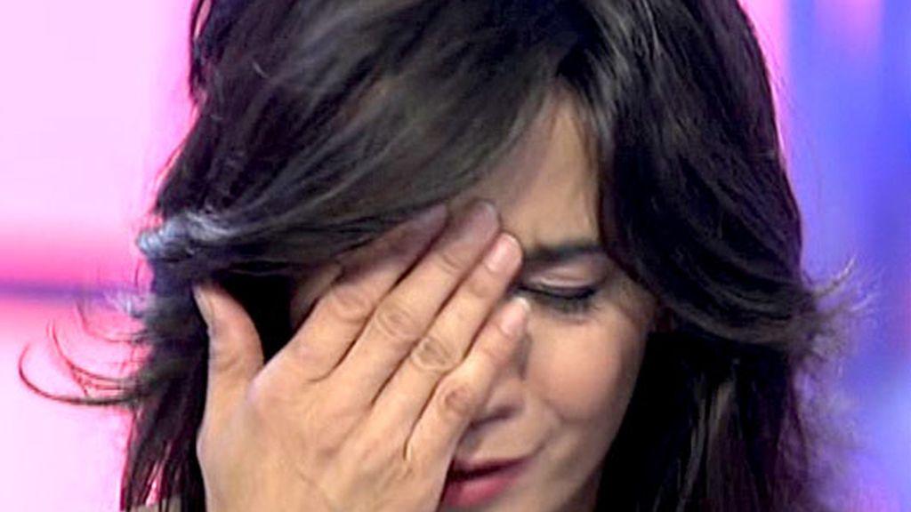Lili llora al ver el beso