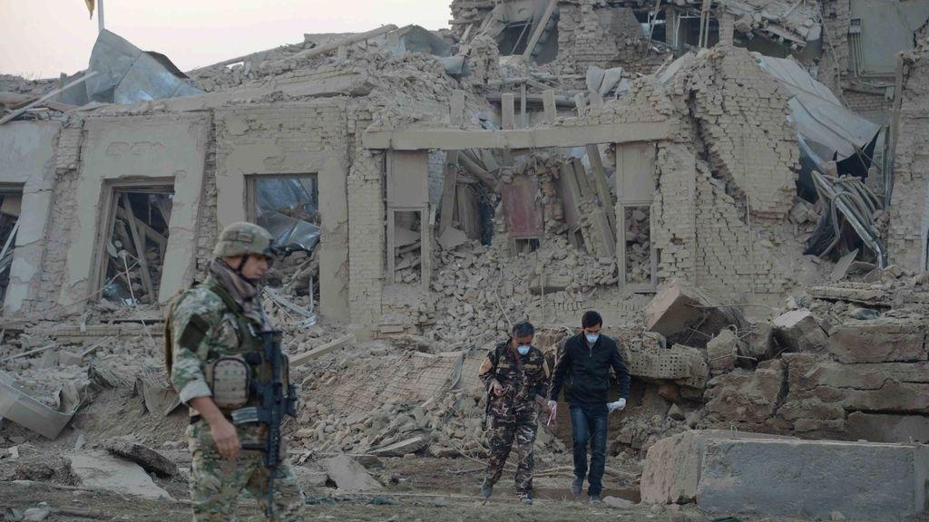 Estado del consulado alemán en Afganistán tras ser atacado