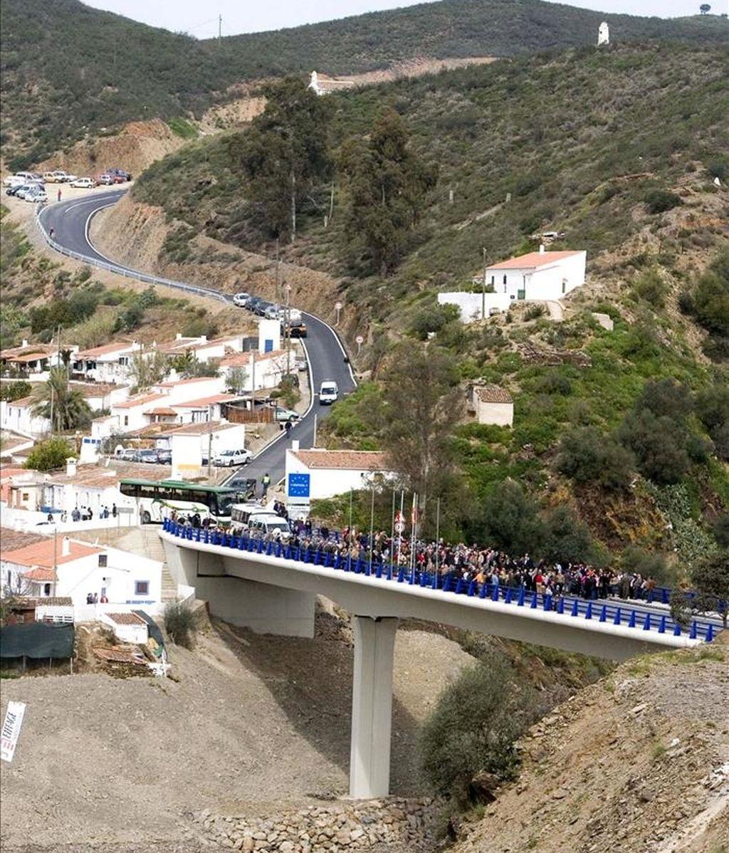 El puente internacional del Bajo Guadiana. EFE/Archivo