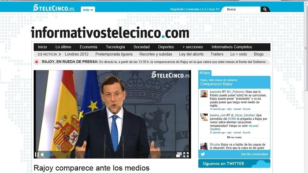 Mariano Rajoy. Foto: telecinco.es