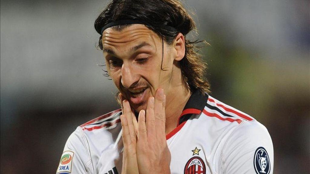 El jugador del AC Milán Zlatan Ibrahimovic. EFE/Archivo