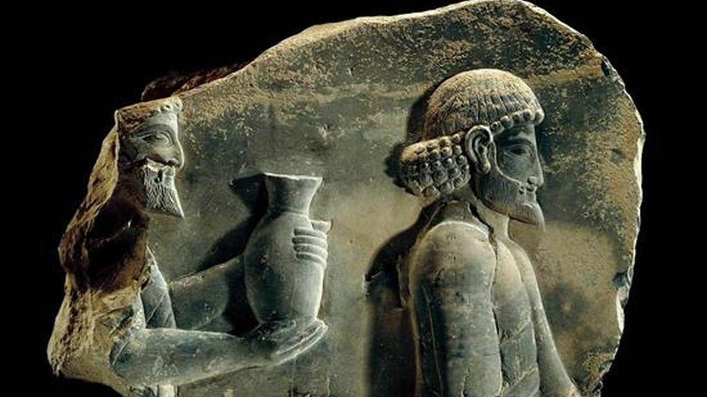 Bajorrelieve cedido por el Museo de Persépolis (Irán) exhibido en el Museo Británico de Londres. EFE/Archivo