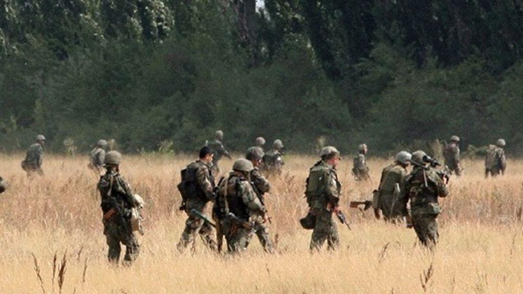 Los militares georgianos se preparan para la guerra